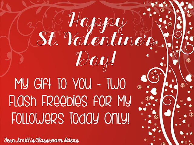 Two Flash Freebies for St. Valentine's Day - Free St. Patrick's Day Resources for Your Classroom from Fern Smith!