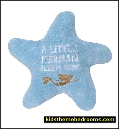 Disney Ariel Sea Princess Starfish Decorative Pillow  Little Mermaid Ariel  Theme Bedroom - Mermaid decor - Disney The Little Mermaid decor - mermaid bedroom decor ariel themed -  Disney Princess Ariel Furniture - Little mermaid princess Ariel Under the sea