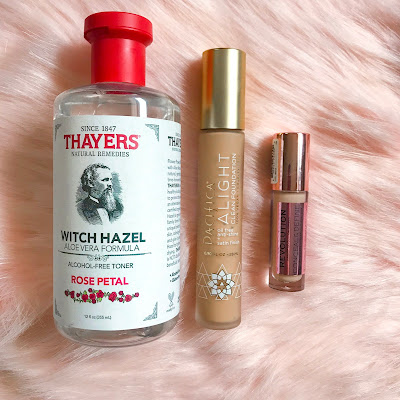 Favorite drugstore beauty products, Pacifica Foundation, Thayers toner and makeup revolution concealer