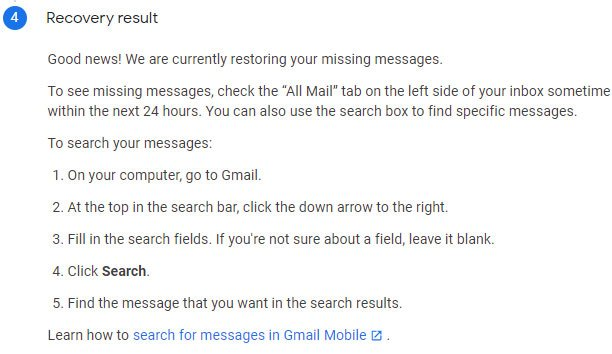 كيفية إستعادة رسائل البريد الإلكتروني المحذوفة نهائياً من الجيميل Gmail