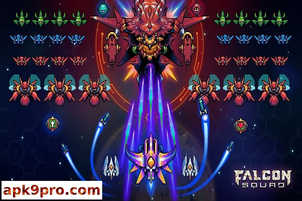 Falcon Squad – Classic Shoot 'em up v50.6 Apk + Mod (File size 84 MB) for android