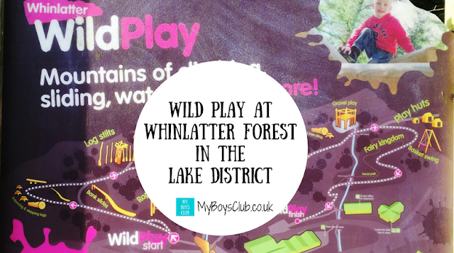 Wild Play at Whinlatter Forest in The Lake District - near to Keswick in Cumbria.