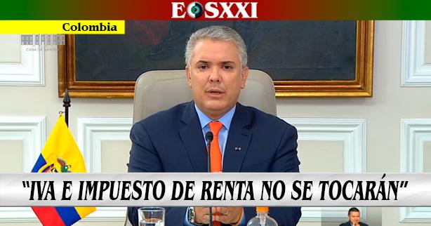 """""""No habrá aumento en el IVA y no se ampliará impuesto de renta"""": Iván Duque"""