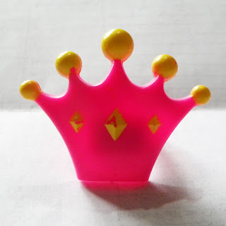 Pink crown ring from a Greggs cake