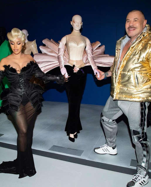 Check out Multiple Outifts of Cardi B which got people talking at Paris Fashion week
