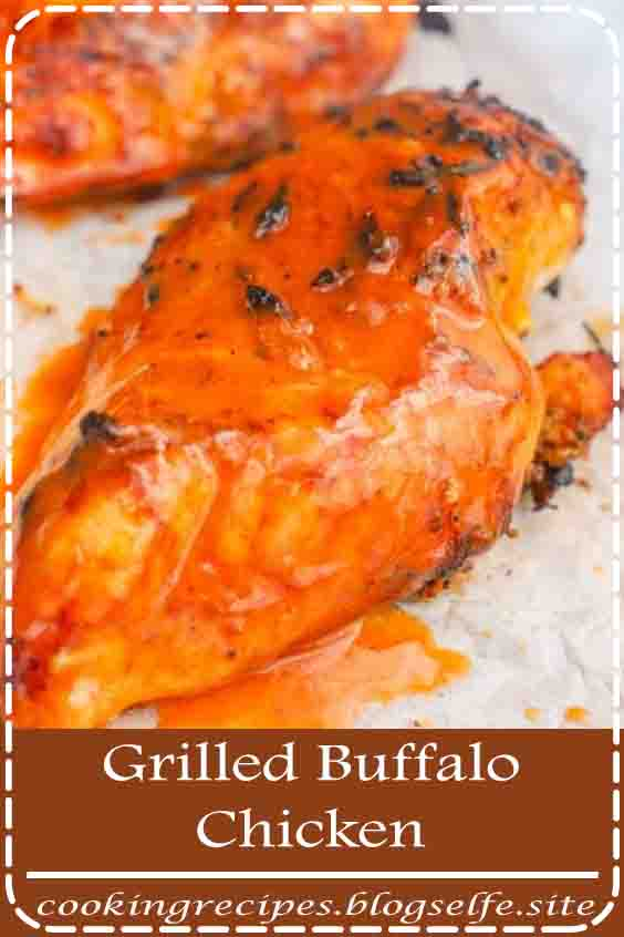 4.8 ★★★★★ | This Grilled Buffalo Chicken is my favorite thing to make on the grill. Nothing beats a grilled juicy chicken breast covered in an easy homemade buffalo sauce. This recipe is perfect on its own or sliced for salad, wraps, or even a fun new taco. #healthy recipes #dinner #chicken #grilled