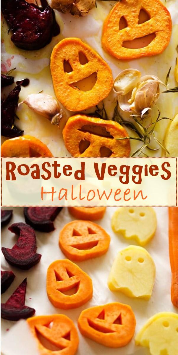 Halloween Roasted Veggies #halloweenrecipes