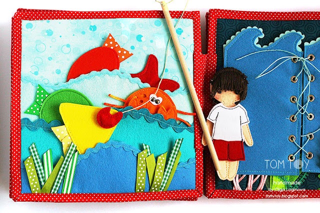 Magnetic fishing quiet book page