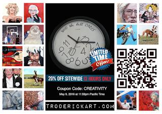 20% off Coupon Code CREATIVITY troderickart.com