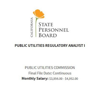 Public Utilities Regulatory Analyst Exam Bulletin