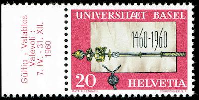 Switzerland University of Basel, 500th anniv. 1960