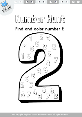 Number Hunt Coloring Book