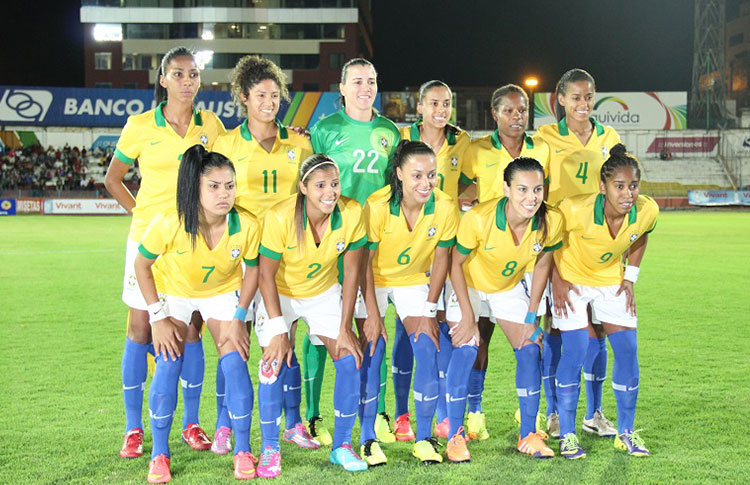 Formación de selección de Brasil ante Chile, Copa América Femenina 2014, 18 de septiembre