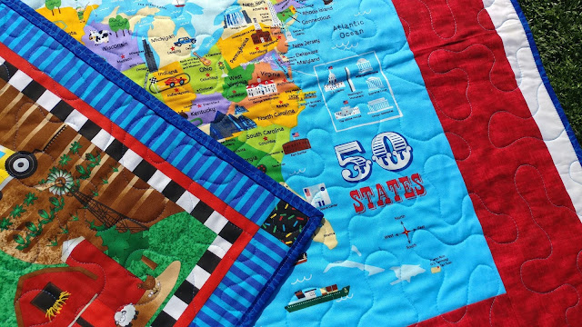 Double sided kid's quilt