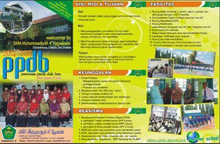gambar desain brosur ppdb SMA