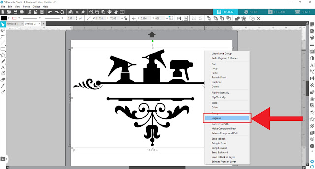 split monogram, monogram, custom designs, silhouette studio v4, text