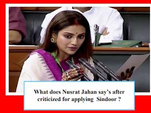 I represent inclusive India : Nusrat Jahan