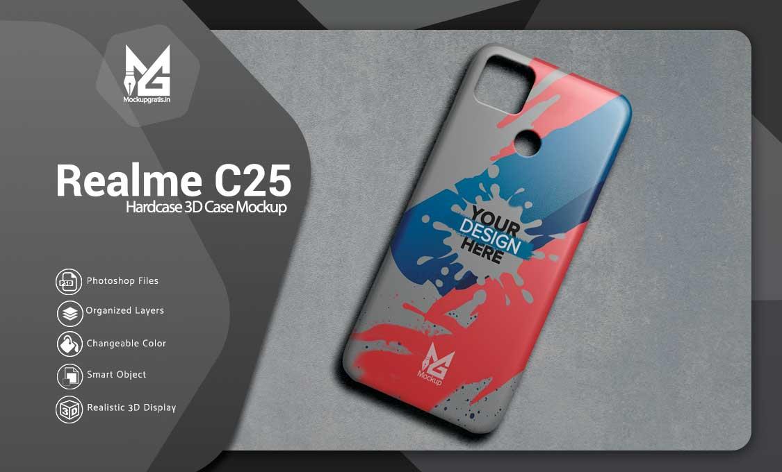 Mockup Hardcase 3D Realme C25