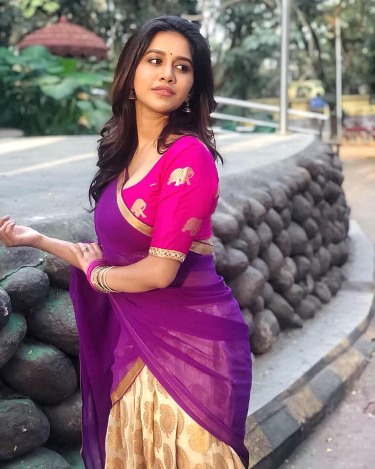 Actress Nabha Natesh Latest Hot Photos gallery - Nabha Spicy pics. Nabha Natesh Navel Show images. Nabha Natesh in half saree photos. Nabha spicy pics.