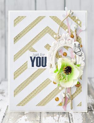 just for you | Eyelet Outlet DT #card #handmadecard #diycard #eyeletoutlet #by_marina_gridasova #washitape #enameldots