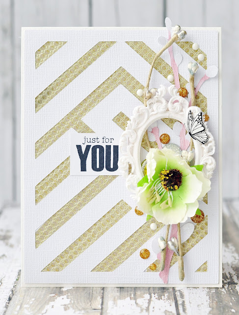 just for you | Eyelet Outlet DT #card #handmadecard #diycard #eyeletoutlet #by_marina_gridasova #washitape #enameldots