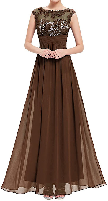 Long Brown Mother of The Bride Dresses