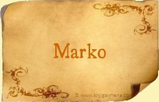 Šta znači ime Marko?