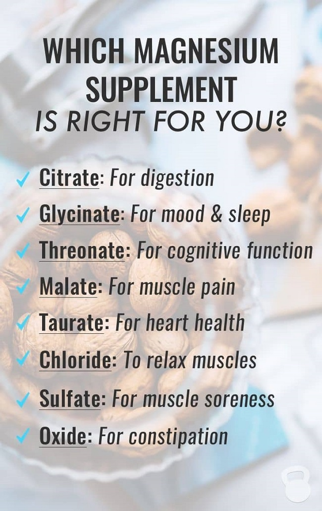 magnesium supplement list