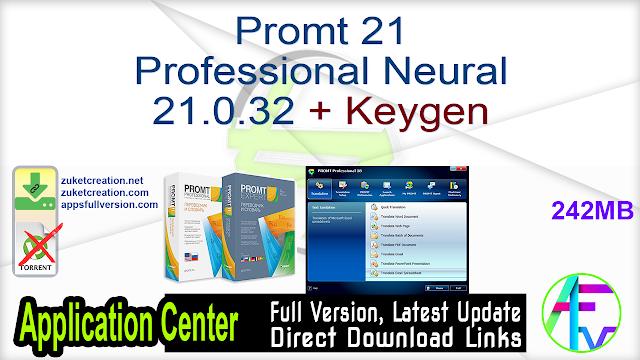 Promt 21 Professional Neural 21.0.32 + Keygen