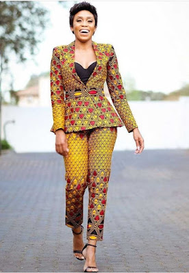 Latest Ankara Jackets and Ankara Pants For Ladies