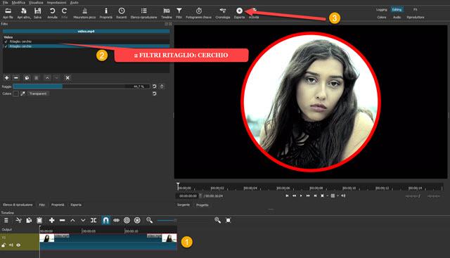 video circolare con sfondo trasparente
