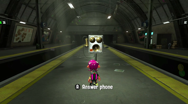 Splatoon 2 Octo Expansion answer phone