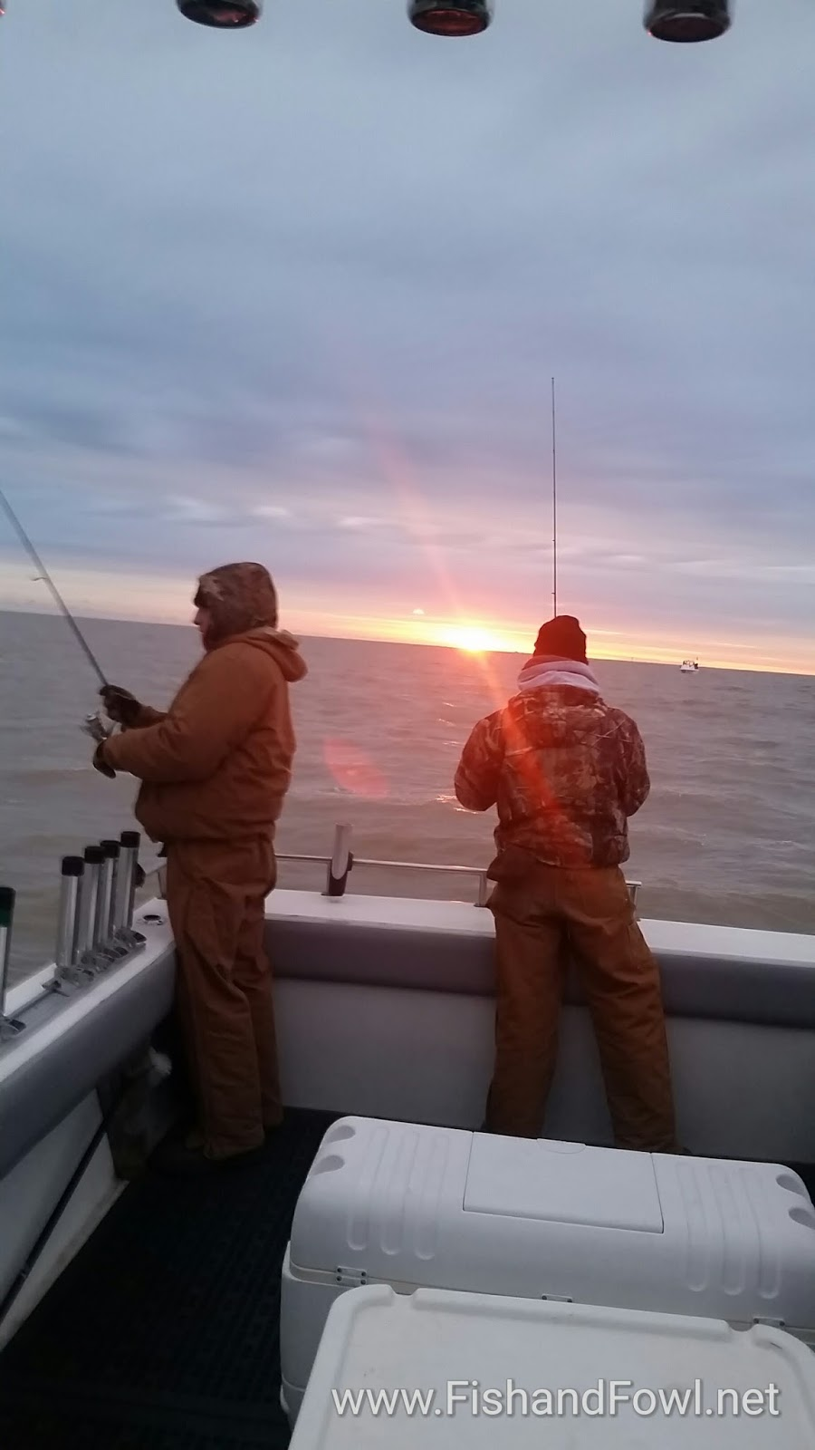 News beautiful sunrises on lake erie for Lake erie fishing charters port clinton