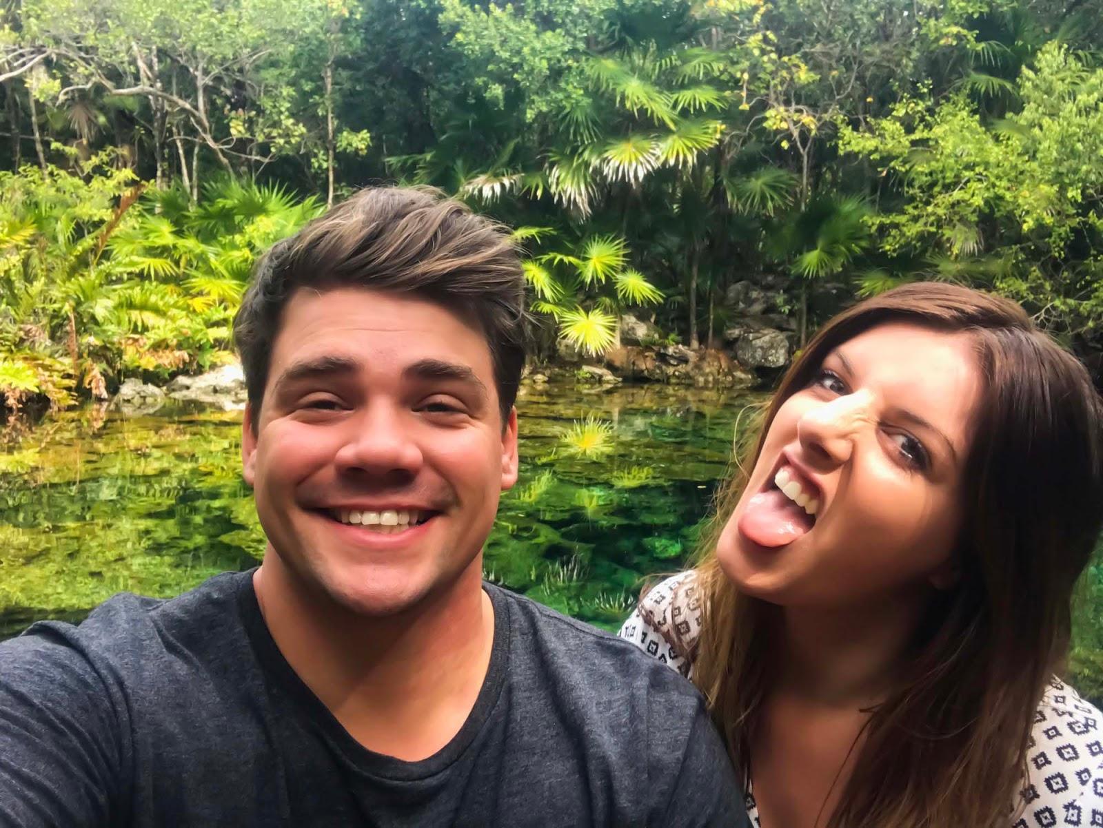 selfie at a tulum cenote