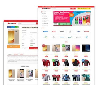 Goom shop Responsive E-Commerce Blogger Template