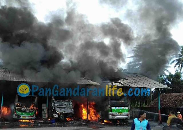 Pull Budiman Pangandaran Kebakaran, Karyawan Panik Berusaha Padamkan Api