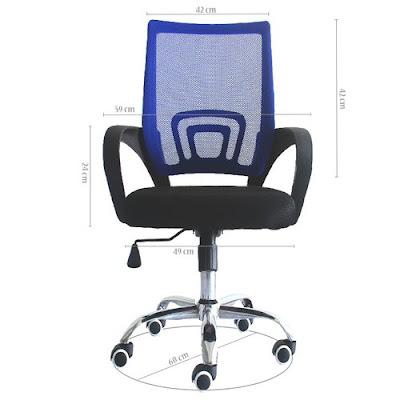 Ghế văn phòng GLMV1, Ghế văn phòng chân xoay, ghế văn phòng lưng lưới - 2