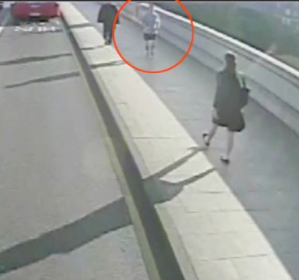 Jogger pushes woman into path of oncoming bus (video)