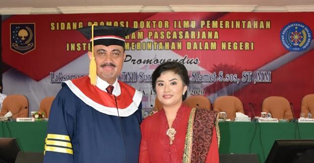 Raih Gelar Doktor di IPDN, Dr.Suradi Kupas Fungsi Penegakan Hukum di Perairan Laut Indonesia