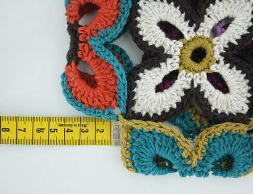 Peacock butterfly, crochet bag. Measure the bag, by Happy in Red