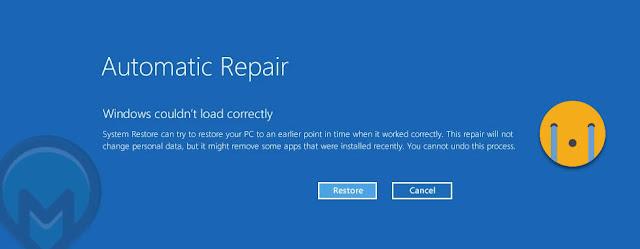 حل مشكلة automatic repair ويندوز10