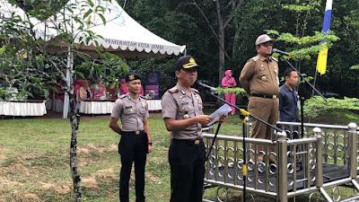 Kapolresta Jambi Bersama Forkompimda Kota Jambi Laksanakan Penanaman Pohon Penghijuan Serentak Di Hutan Kota H.M Sabki Jambi