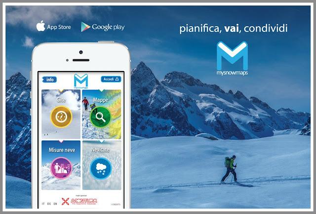 MySnowMaps  la app per monitorare l'innevamento sull'arco alpino