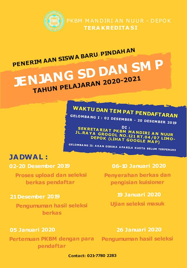 PKBM Mandiri An Nuur Depok-PPDB