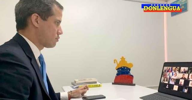 Juan Guaidó en una reunión para rescatar la libertad de Nicaragua