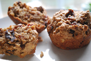 Cinnamon, Date, and Walnut Muffins