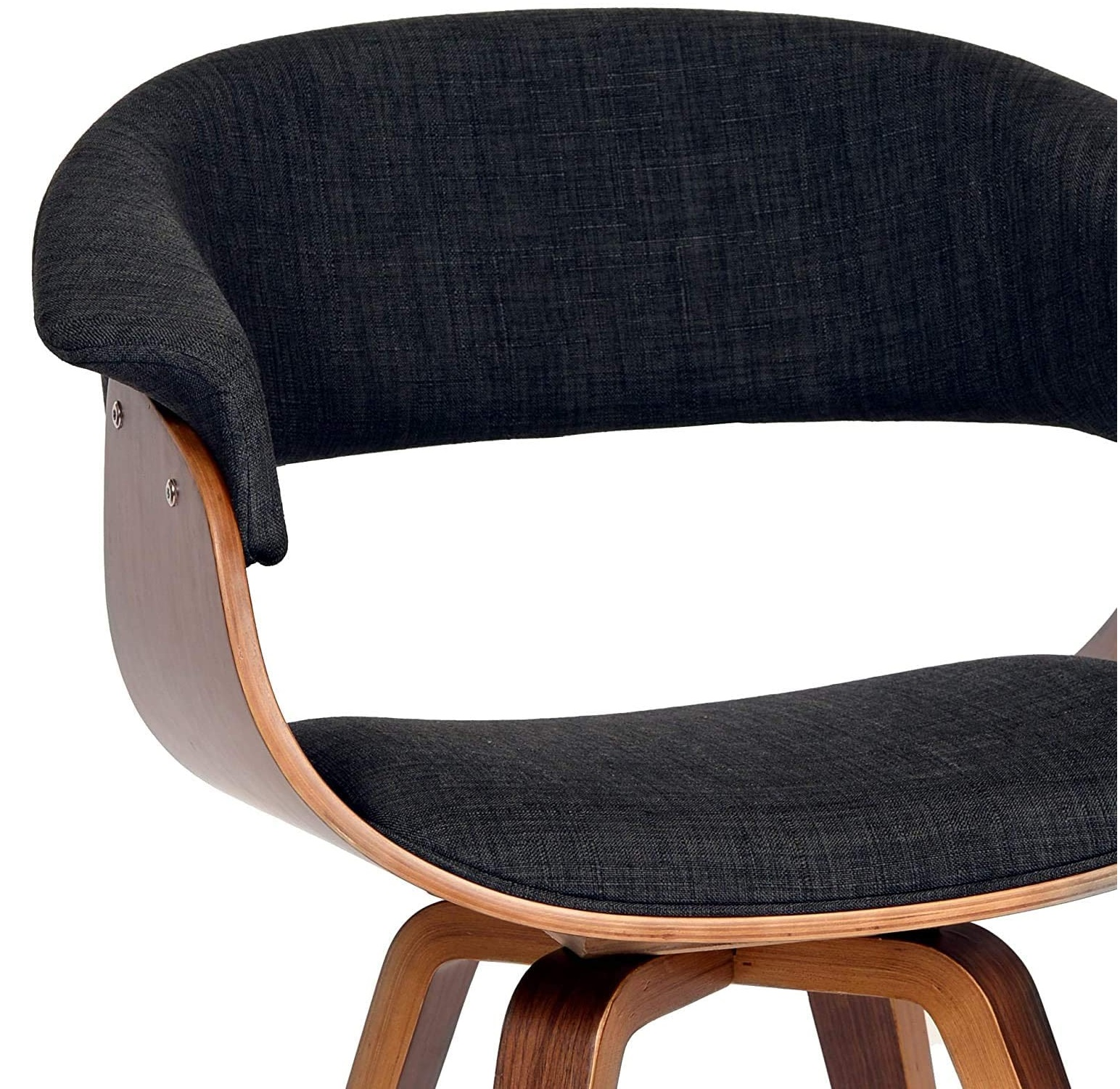 Best favorit on 2021 Mid-Century Armen Minimalist livingroom contemporary Chair with charcoal fabric and Walnut wood finish 1