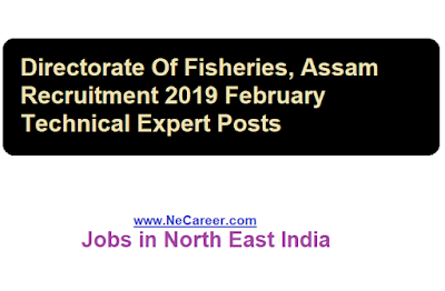 Directorate Of Fisheries, Assam Recruitment 2019 February |  Technical Expert Posts