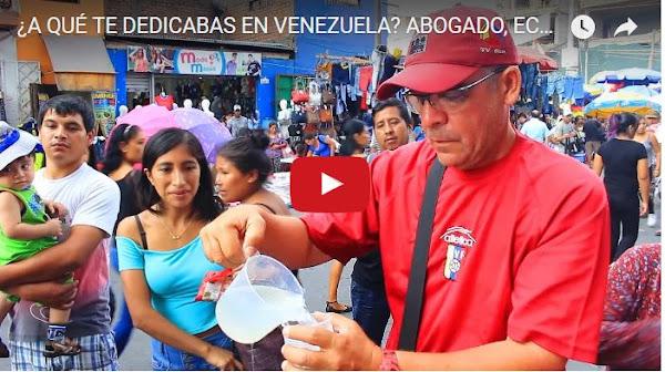 Abogados, licenciados y hasta directores de TV venezolanos son buhoneros en Perú
