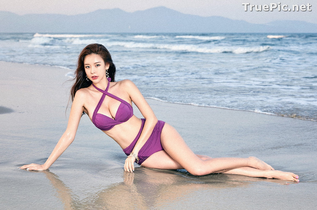 Image Park Da Hyun - Korean Fashion Model - RoseMellow Purple Bikini - TruePic.net - Picture-2